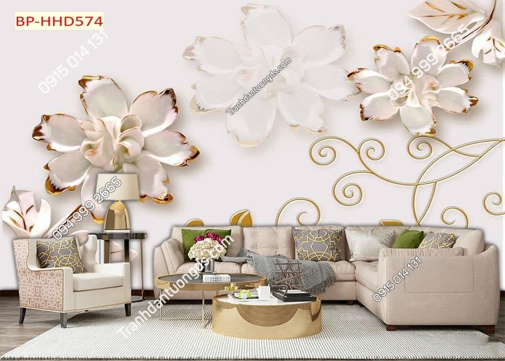 Tranh dán tường hoa giả ngọc HHD574