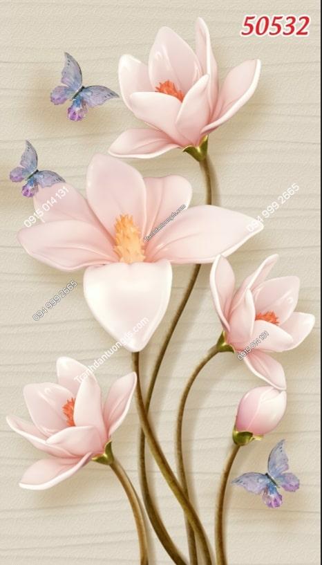 Tranh dán tường hoa khổ dọc 50532