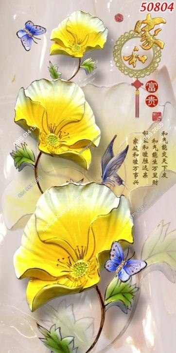 Tranh dán tường hoa khổ dọc 50804
