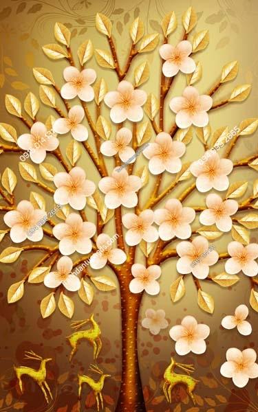 Tranh dán tường hoa khổ dọc LH163