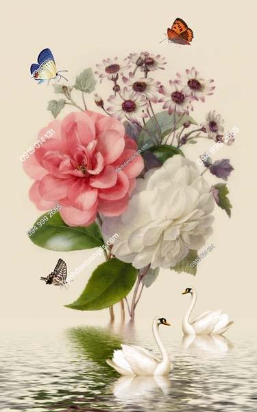 Tranh dán tường hoa khổ dọc LH187