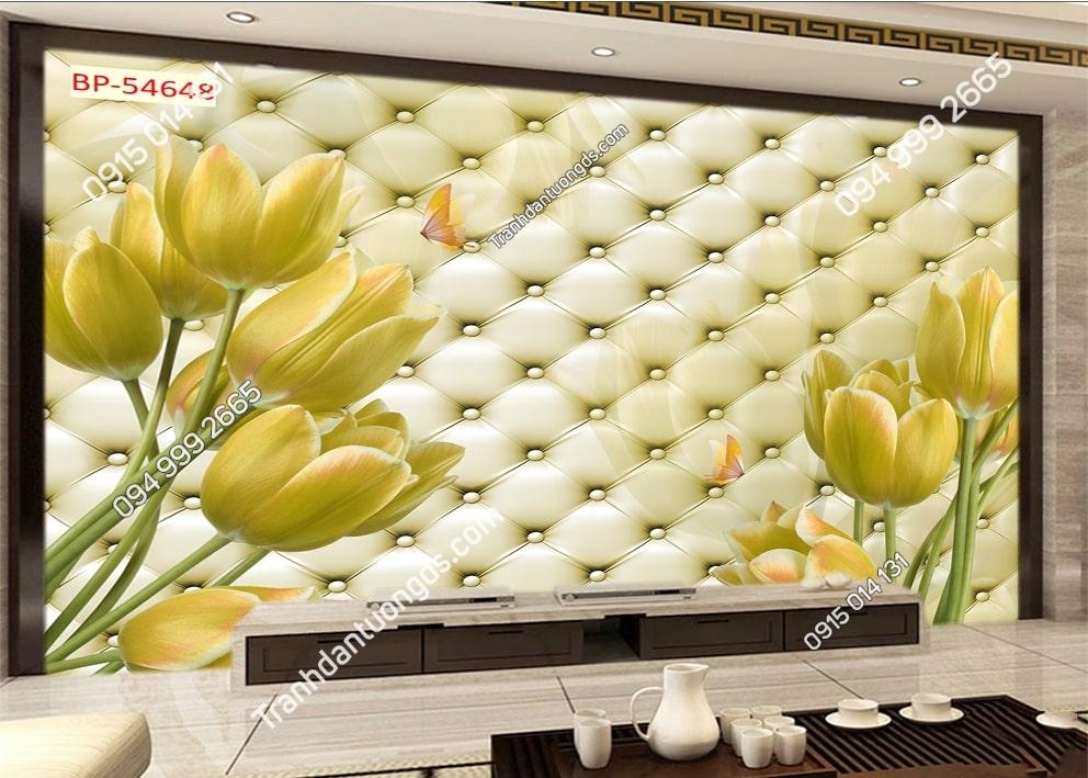 Tranh dán tường hoa ly vàng 54648