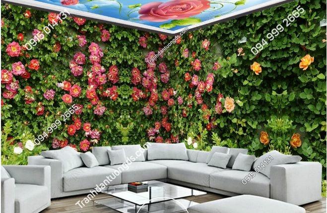 Tranh dán tường hoa siêu đẹp khổ dài DS_15492007