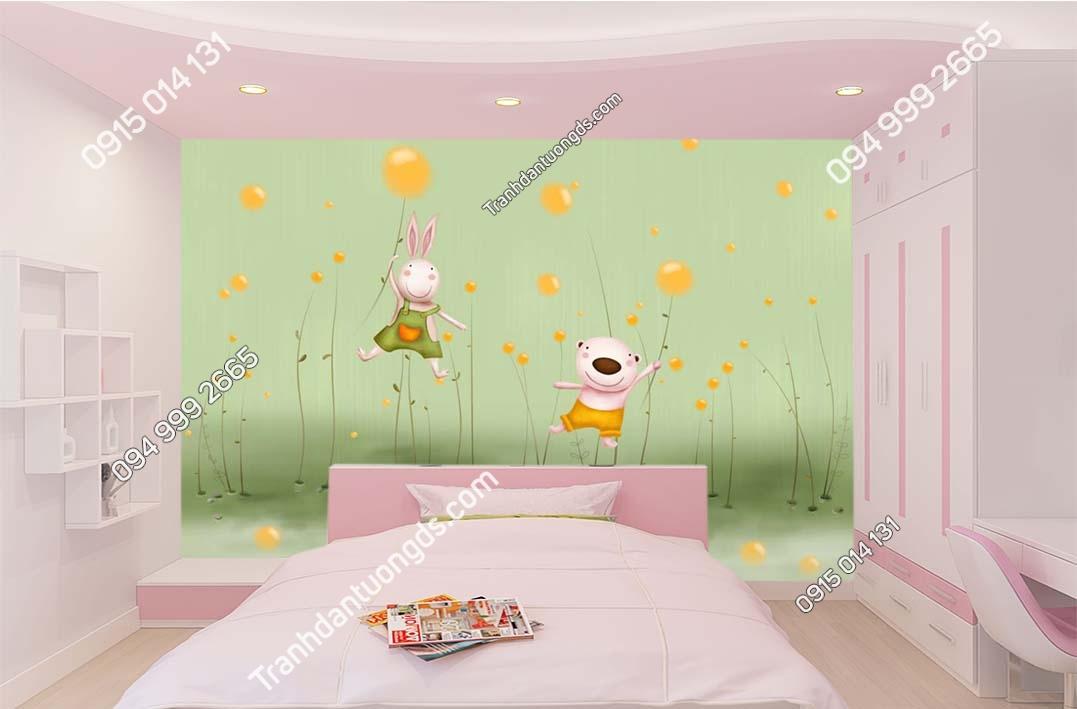 Tranh dán tường hoạt hình trẻ em hiện đại TE015