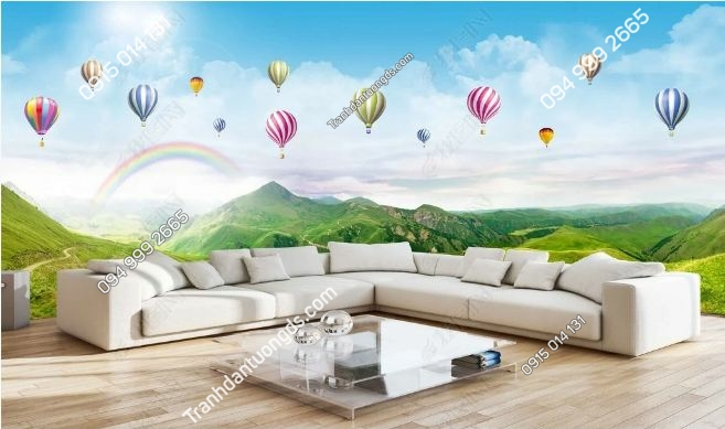 Tranh dán tường khinh khí cầu khổ dài DS_15904038