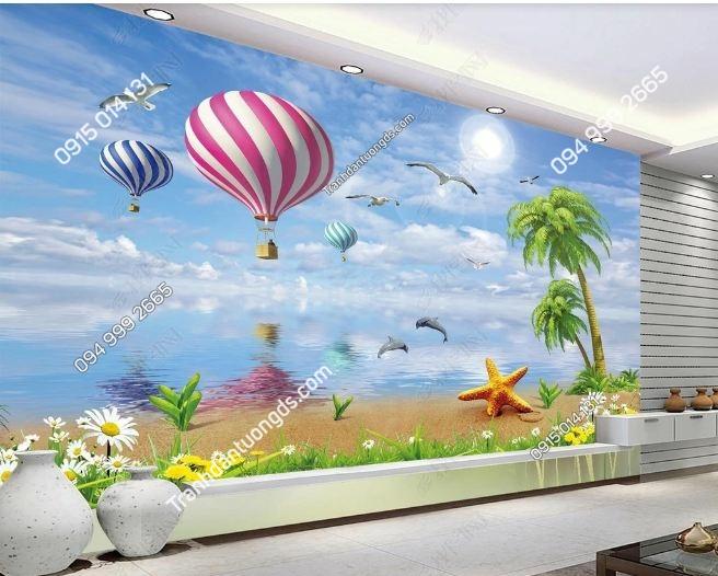 Tranh dán tường khinh khí cầu khổ dài DS_15935084
