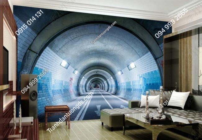 Tranh dán tường lối hầm 3D DS_13926925