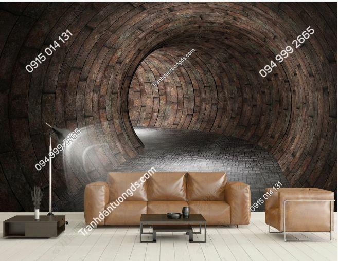 Tranh dán tường lối hầm 3D DS_17469477