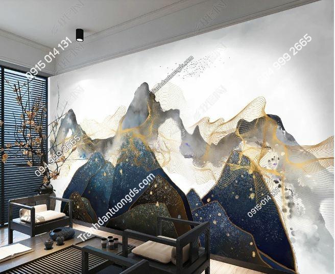 Tranh dán tường mây núi huyền ảo DS_16840609