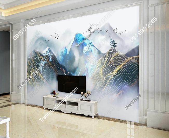 Tranh dán tường mây núi huyền ảo DS_17409892