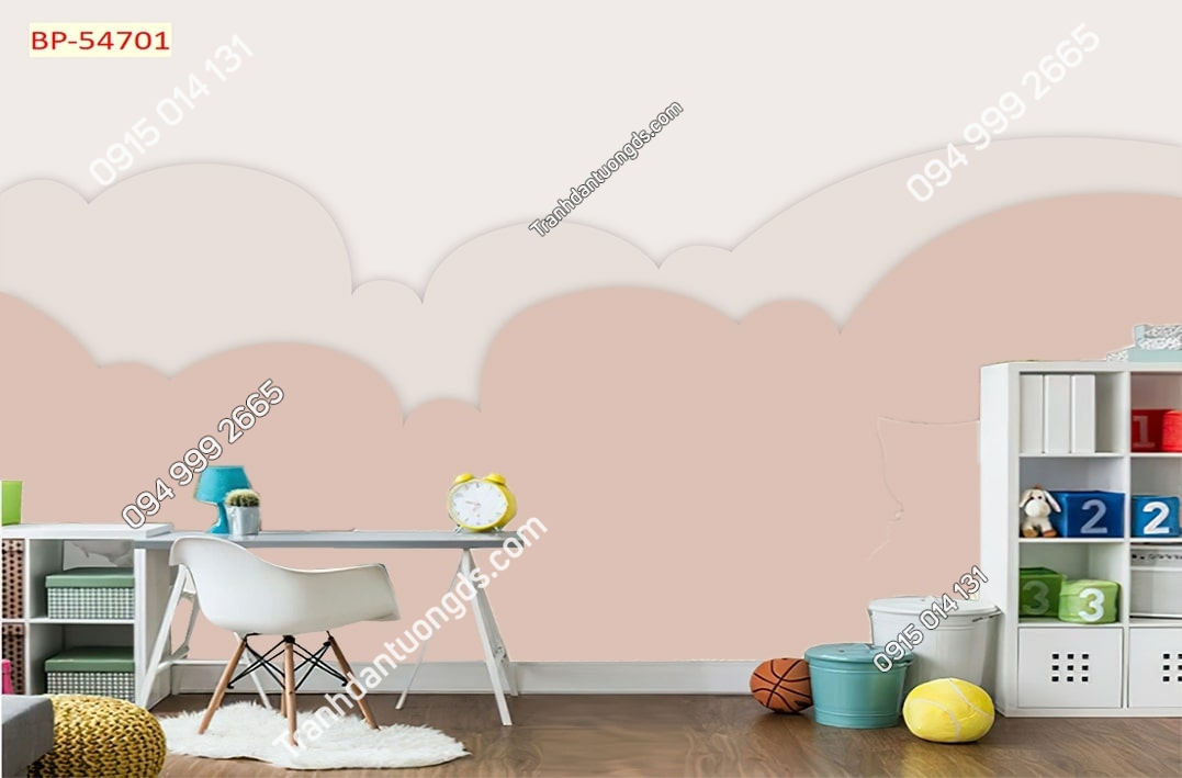 Tranh dán tường mây trẻ em hiện đại 54701