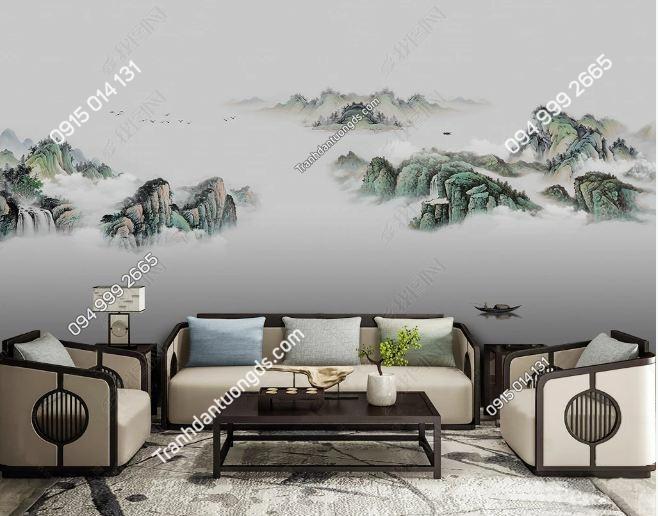 Tranh dán tường núi mây sông huyền ảo DS_18562863