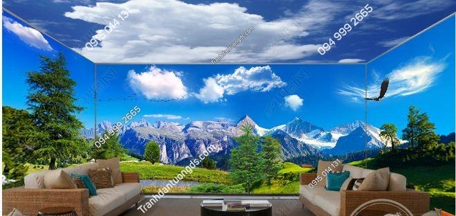 Tranh dán tường phong cảnh khổ dài DS_15863443