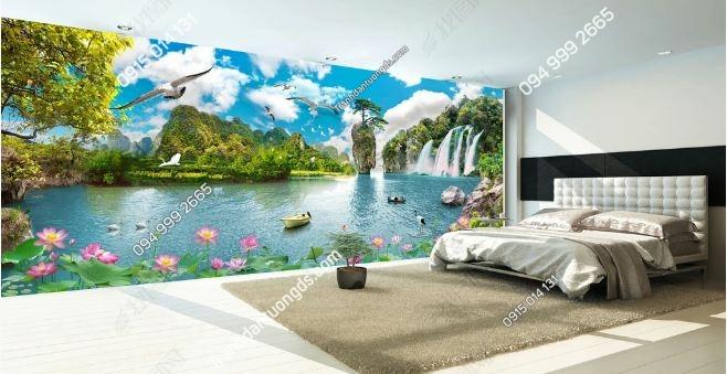 Tranh dán tường phong cảnh sơn thủy khổ dài DS_16019469