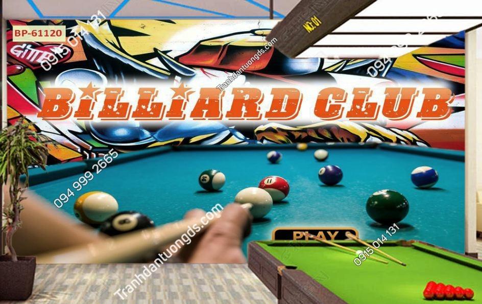 Tranh dán tường quán BILLARD Club 61120