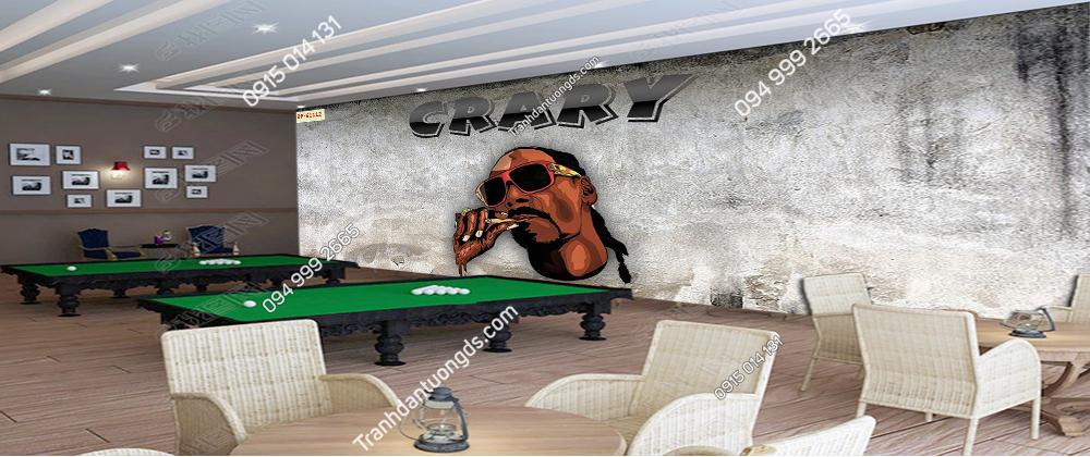 Tranh dán tường quán BILLARD Snoop Dogg 61112