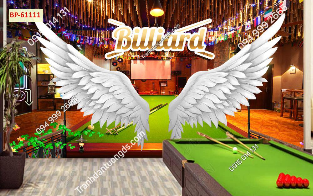 Tranh dán tường quán BILLARD đôi cánh thiên thần 61111
