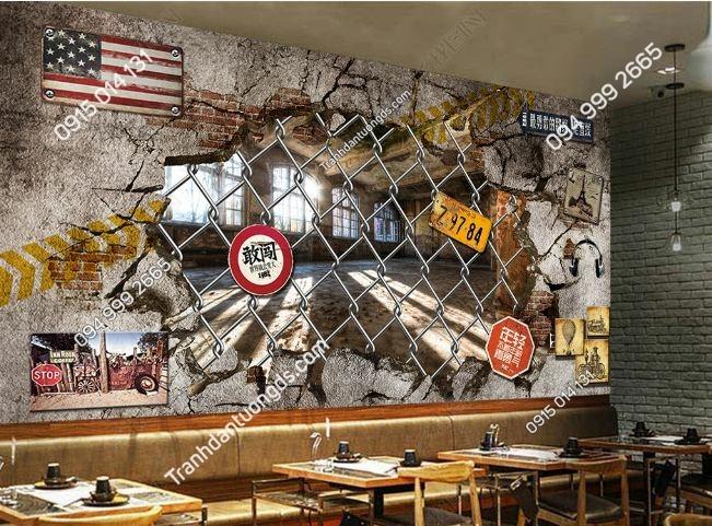 Tranh dán tường quán BILLARD kiểu mỹ DS_18968438