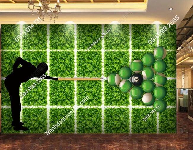 Tranh dán tường quán BILLARD nền cỏ xanh DS_17005598