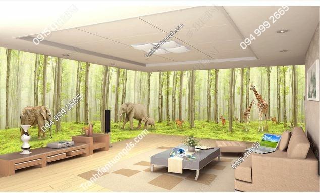 Tranh dán tường rừng cây khổ dài DS_14775727