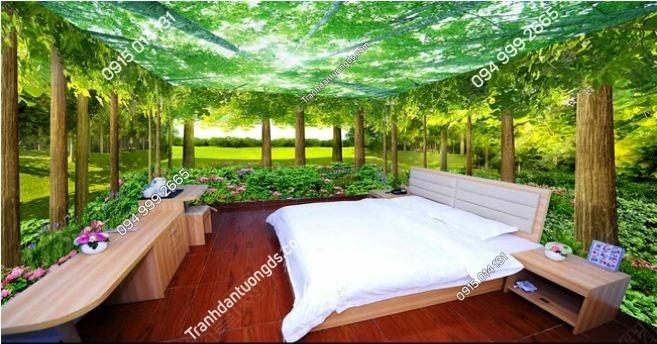 Tranh dán tường rừng cây khổ dài DS_14826751