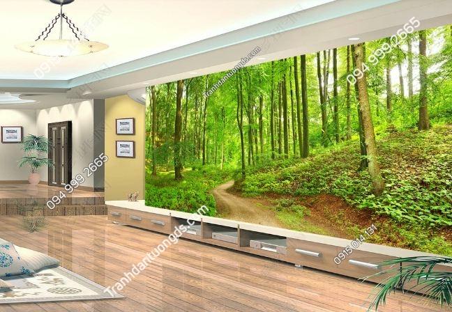 Tranh dán tường rừng cây khổ dài DS_15665955