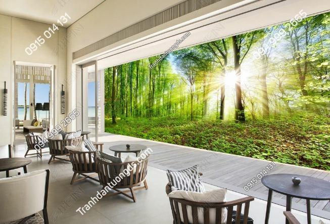 Tranh dán tường rừng cây khổ dài DS_16340442