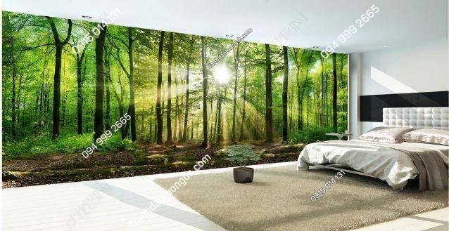 Tranh dán tường rừng cây khổ dài DS_17432516