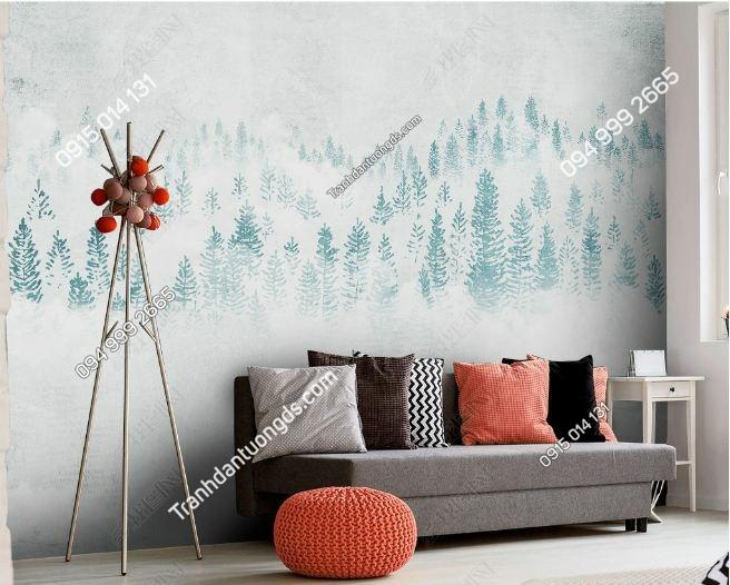 Tranh dán tường rừng mây hiện đại DS_23491250
