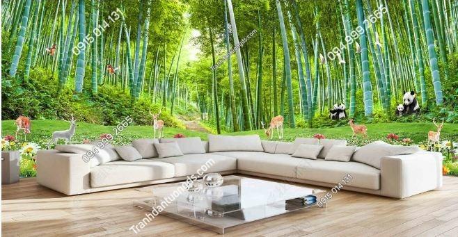 Tranh dán tường rừng tre trúc khổ dài DS_15306025
