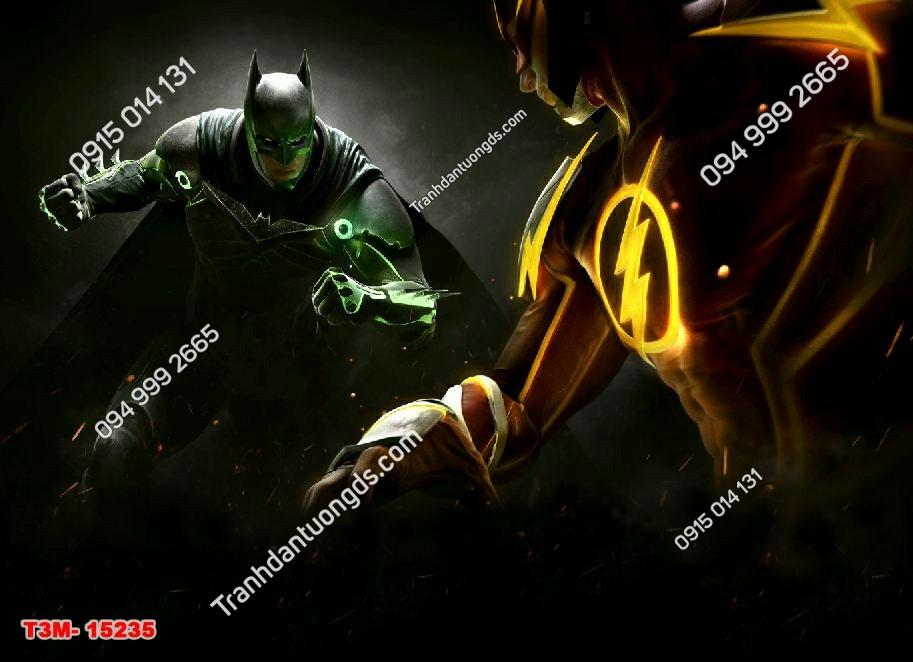 Tranh dán tường siêu anh hùng batman dán phòng ngủ bé trai - 15235 DEMO