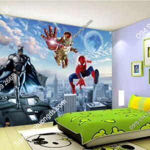 Tranh dán tường siêu anh hùng dán phòng ngủ trẻ em 51381