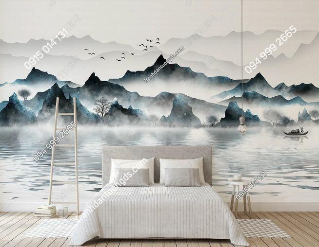 Tranh dán tường sơn núi mực DS_20303468