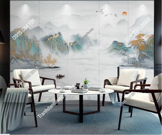 Tranh dán tường sơn thủy hư ảo DS_25171504