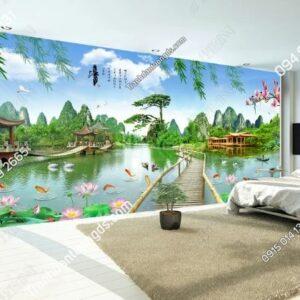 Tranh dán tường sơn thủy khổ dài DS_15858576