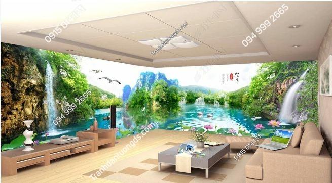 Tranh dán tường sơn thủy khổ dài DS_15874359