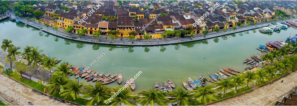 Tranh dán tường sông hoài Hội An 1083707702