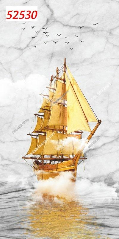 Tranh dán tường thuận buồm xuôi gió khổ dọc