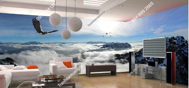Tranh dán tường trời mây khổ dài DS_15176143