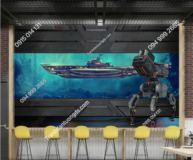 Tranh dán tường trong khoang tàu_weili_16900583
