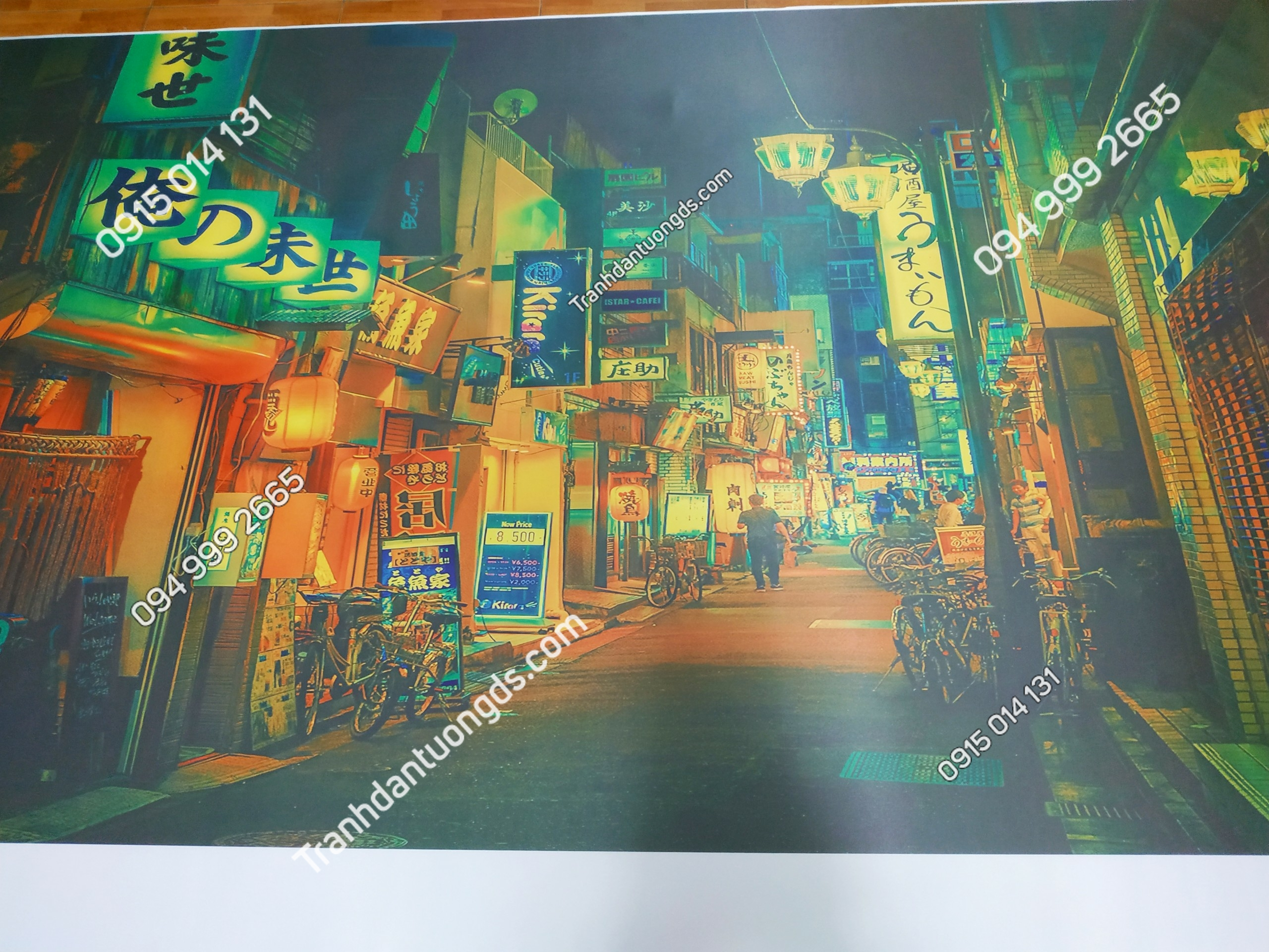 Tranh đường phố hongkong đẹp