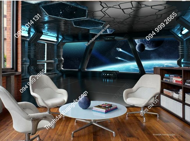 Tranh giả khoang tàu vũ trụ 3D DS_16530581