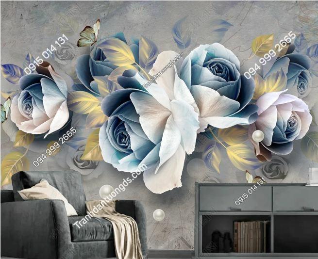 Tranh hoa 3D dán tường DS_19282780
