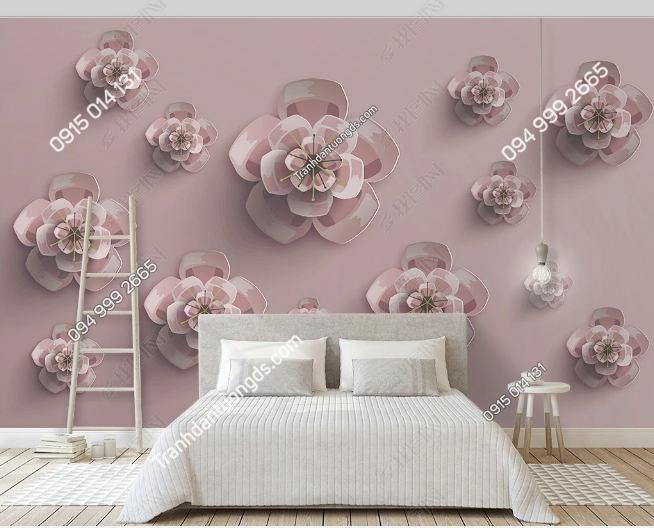 Tranh hoa 3D dán tường phòng ngủ DS_18529060