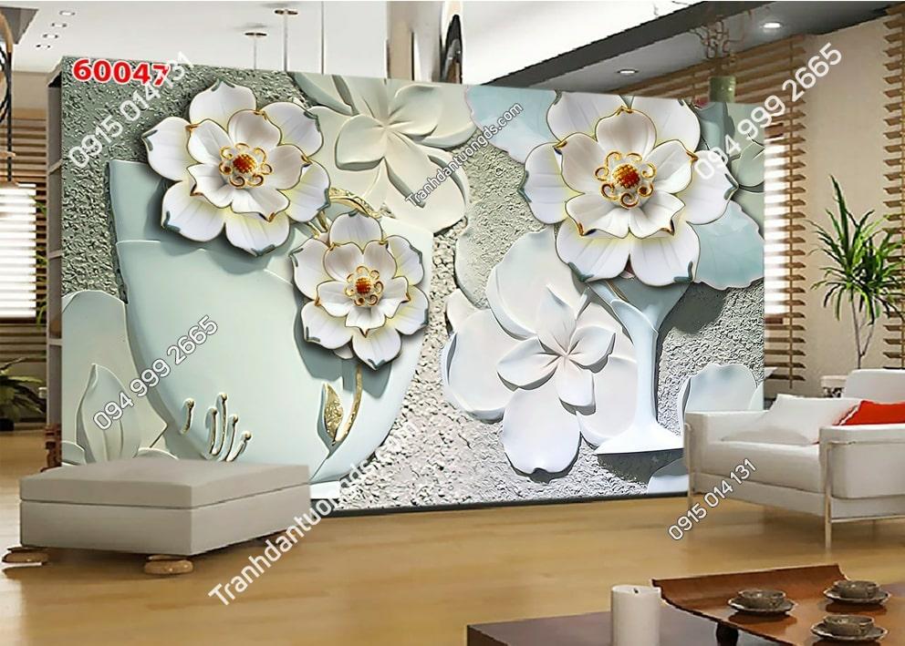 Tranh hoa 3D gân nổi 60047