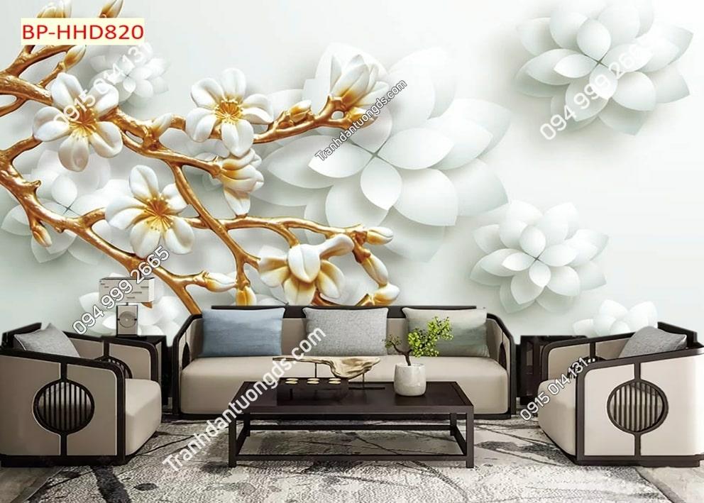 Tranh hoa 3D ghép HHD820