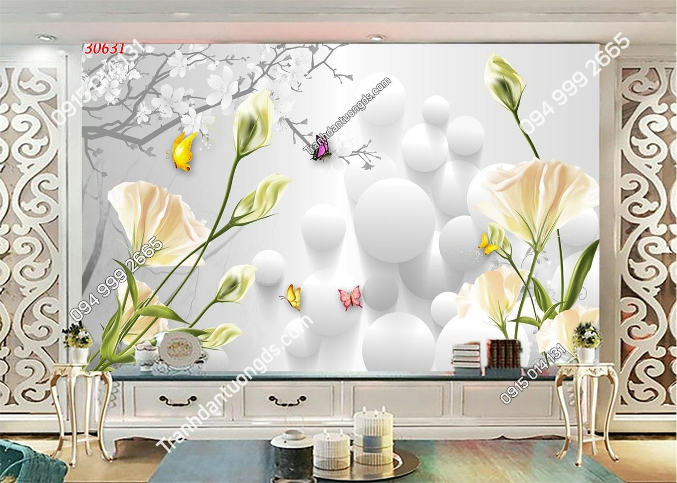 Tranh hoa 3D hiện đại 30631