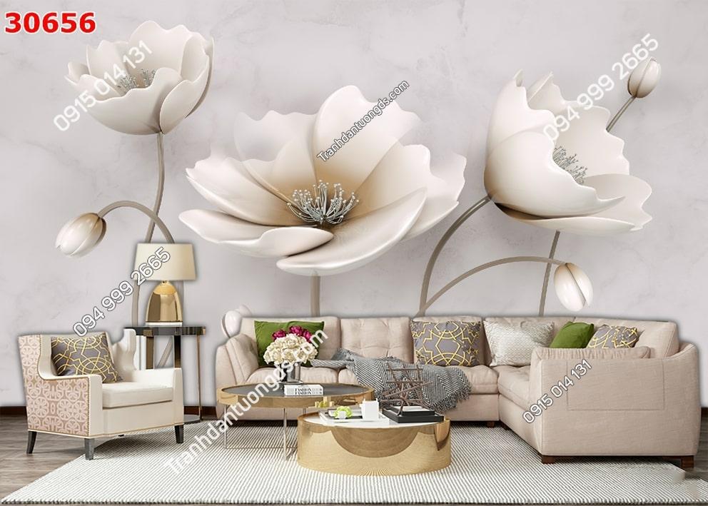 Tranh hoa 3D hiện đại 30656