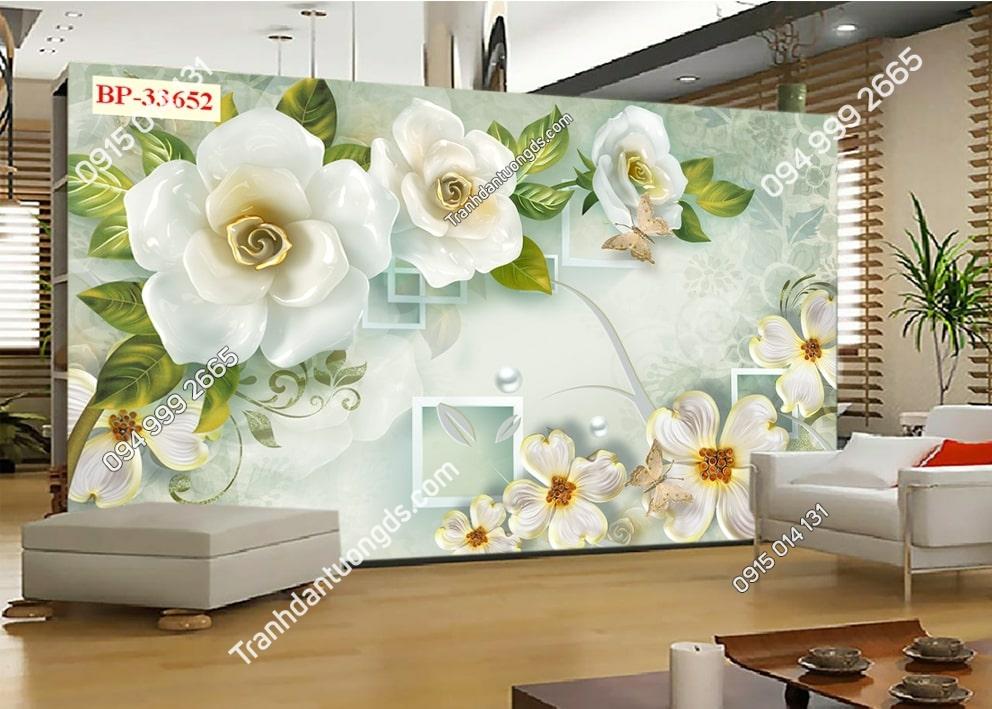 Tranh hoa 3D hiện đại 33652