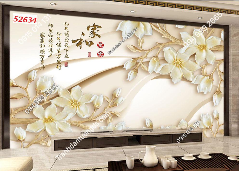 Tranh hoa 3D hiện đại 52634